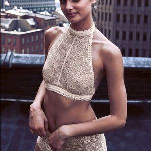 Victoria Secret High-neck Lace Bralette